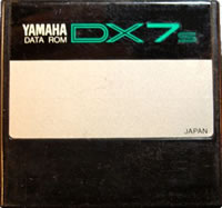 Yamaha DX7s factory supplied ROM cartridge